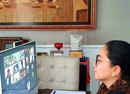 Ibu Rita Dondokambey-Tamuntuan Ikuti Rapat Persiapan Rakernas Dekranas 2021 Secara Virtual