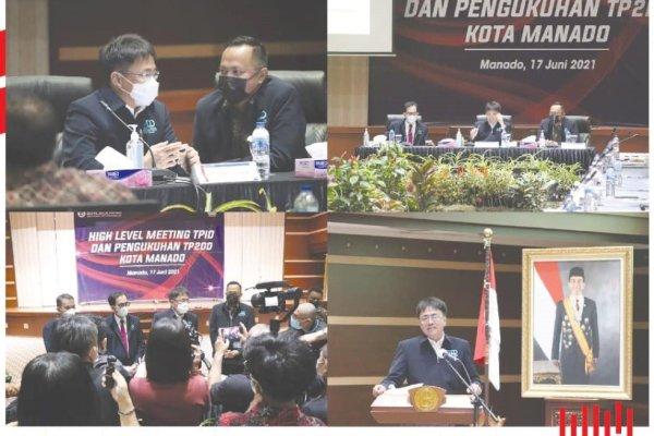 AARS Hadiri High Level Meeting TPID dan Pengukuhan TP2DD di Kantor BI Manado