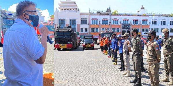 Gubernur Olly Lepas Petugas Penyemprotan Disinfektan di 15 Kabupaten Kota se-Sulut