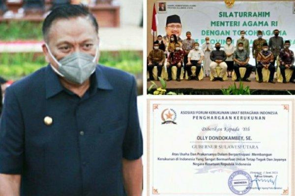 Tokoh Agama Indonesia dan Sulut Sepakat Gubernur Olly Sandang Bintang Mahaputra Utama