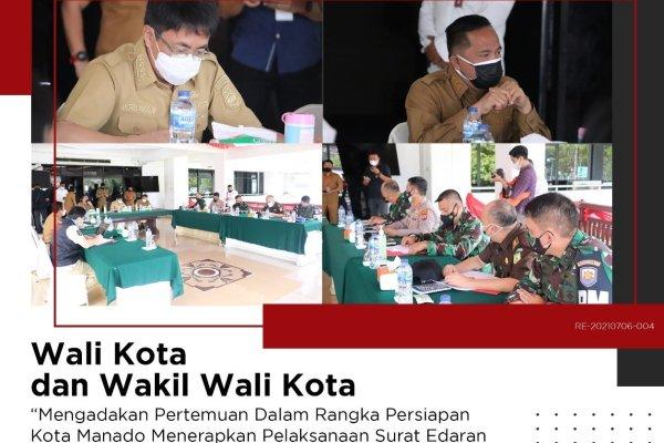 Ikuti Arahan Gubernur Olly. Walikota Angouw Terbitkan Surat Edaran Terkait Antisipasi Peningkatan Kasus Covid 19 di Manado