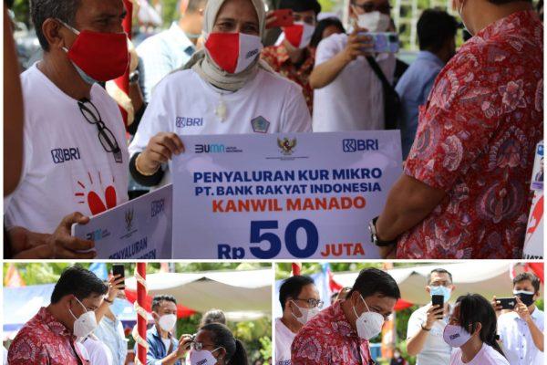 Wagub Kandouw Salurkan Bantuan Dalam Peringatan Puncak Hari UMKM