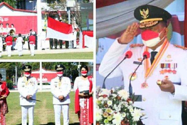 Gubernur Olly Dondokambey Irup Peringatan HUT RI ke 76 di Sulut