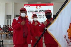 Gubernur Olly Lepas Kontingen PON Sulut Menuju Papua