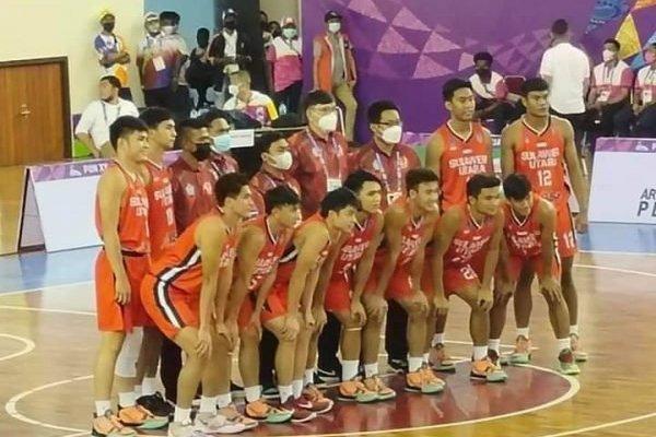 HEBAT, Raih Medali Perak, Tim Basket Putra Sulut Ukir Sejarah di PON XX Papua