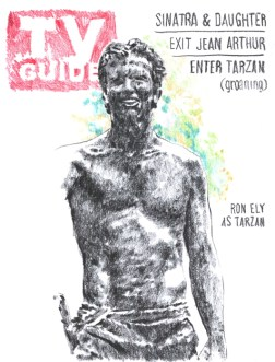 Enter the Tarzan - presovani ugljen na papiru