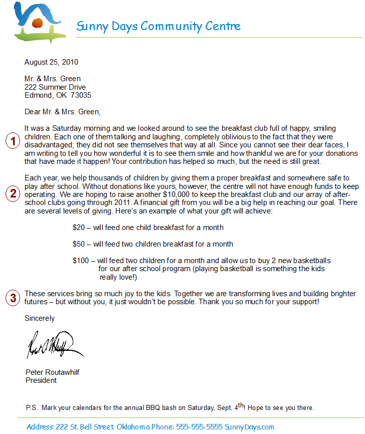 How To Write The Perfect Fundraising Letter - Sumac Non-profit Software