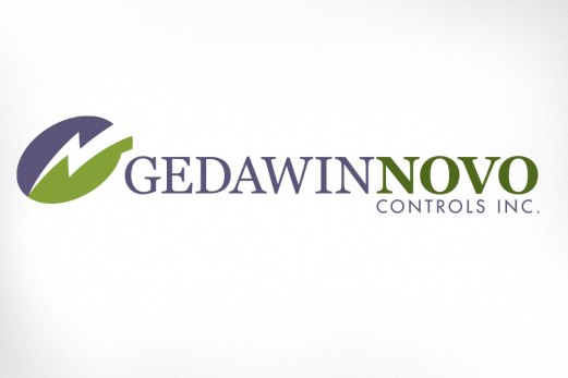 """Gedawin Novo Controls is a relatively new company offering design and manufacturing of electrical control systems. The logo depicts a bolt of electricity wherein is hidden the G and the N in the company name. The brand characteristics requested were """"corporate, controlled, knowledgeable – while imparting a subtle hint of innovation"""". Website also designed at Sumack Loft: www.gedawinnovo.ca."""