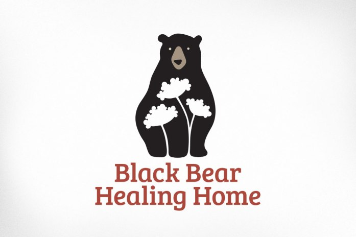 This project was a donation to a silent auction for a local not for profit. Black Bear Healing Home is a one-woman community development service offering guidance and workshops for a variety of functions, including violence prevention, harm reduction, as well as ASL conversational interpreting. Client requested that her new logo contain the image of a bear and Queen Anne's lace flowers.