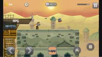 metal soldiers RPGは所謂ロケットランチャー。爆発の周囲も広く巻き込む