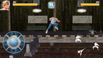 StreetRageFighter ジャンプです。ジャンプ力が高い!