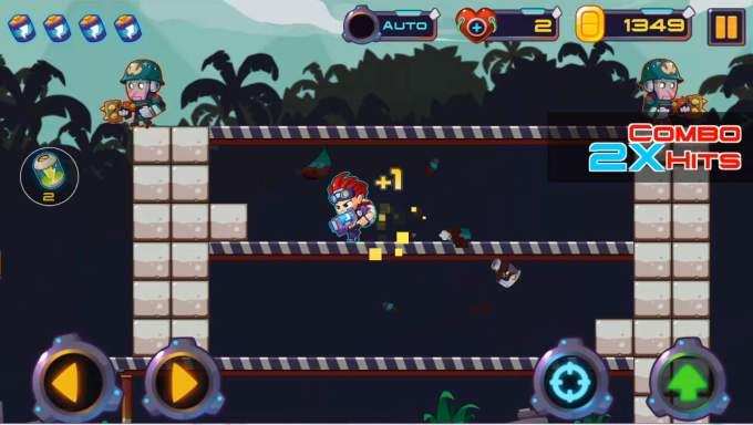 metal shooter ゲーム画面