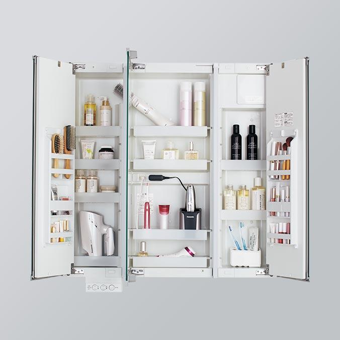 Neat consumer electronics storage (Mira come mirror)