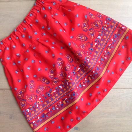 Twirly red skirt