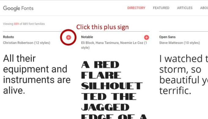 Google fonts download select font image