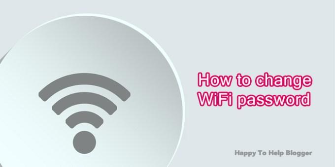 How to change WiFi Password image