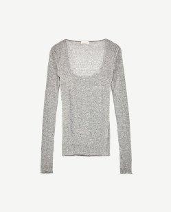 camisa escote cuadrado - Zara