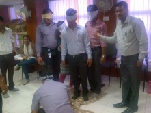 Energiser during Sales training with Bajaj Allianz in Chennai