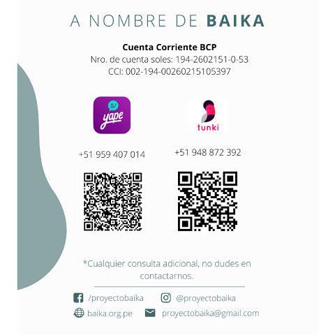 DONACIONES BAIKA
