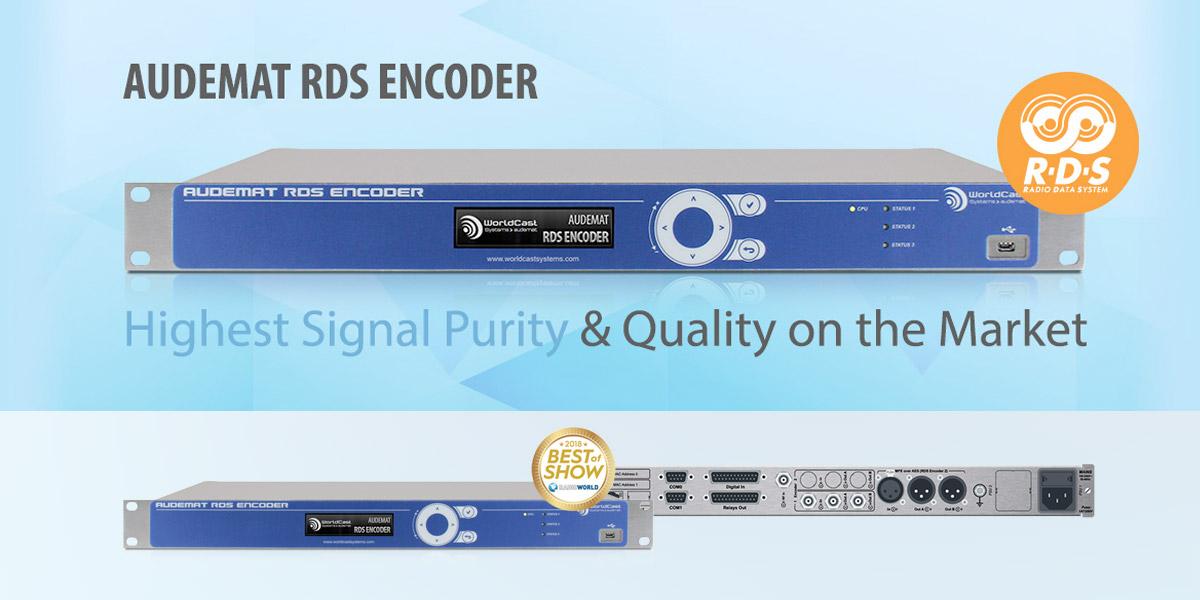 Höchste Signalreinheit – neuer Audemat RDS Encoder