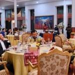Bupati Dharmasraya Sutan Riska Tuanku Kerajaan Menghadiri Jamuan Makan Malam Griya Agung Istana Gubernur Sumatera Selatan