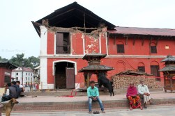 The residence of one of the priests of the temple, or 'Bhatta', suffered major damage