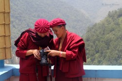 Contrary to notion, the nuns (or monks) don't spend their days just praying. Apart from their kung-fu exercises, the nuns also take classes of their interest. One of them had taken to photography and was busy capturing every event and trip of the group