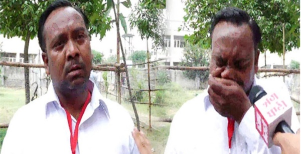 A Punjab candidate cries after results.