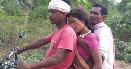 Pregnant Jharkhand woman on bike reaches hospital when denied Ambulance.