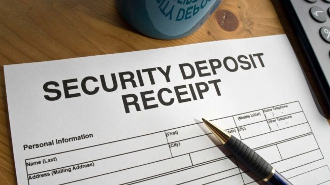 Security deposit is to b given by the renter to the owner.
