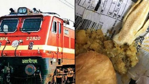 Man contaminating Railway meals by adding lizards to eat free food.
