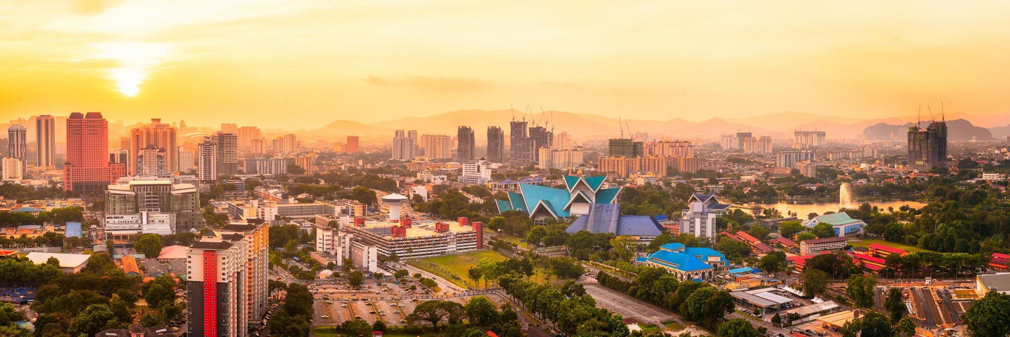 Zachód słońca Panorama | Kuala Lumpur, Malezja