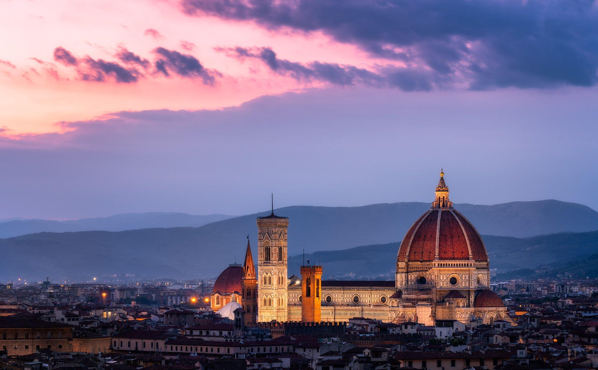 Katedra we Florencji z Duomo Brunelleschi | Florencja, Włochy