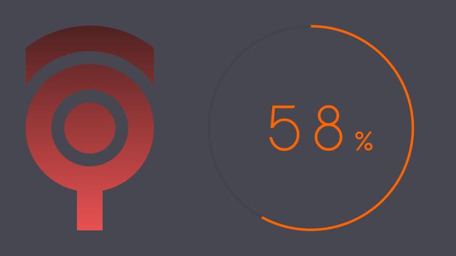 クリーンでミニマルな円形チャート  #009