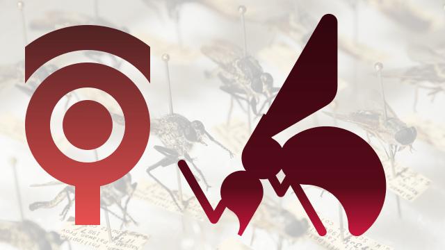 円と直線で蚊のイラスト #018