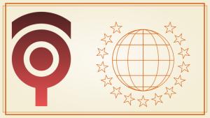 簡潔なシンボルをあしらった表彰状のデザイン #023
