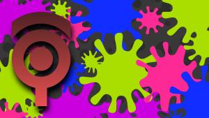 Splatoonみたいなインク跡のアートワーク #053
