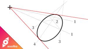 楕円に正確な接線を引く方法 #005
