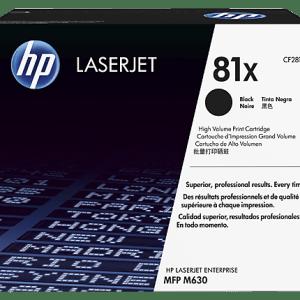 TONER HP 81X CF281X ORIGINAL, Color: Negro, Compatibilidad: HP LaserJet Enterprise Flow MFP M630z / M360f / M630dn, Rendimiento: 25000 páginas