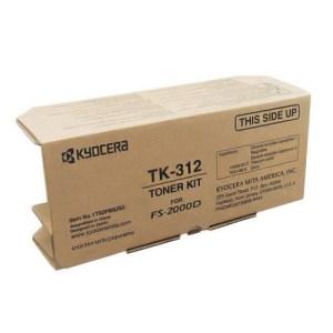 Cartucho de tóner Kyocera - Mita TK-312 original, color Negro, rendimiento estimado 12,000