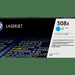 Cartucho Toner HP 508X Cyan, Color: Cyan, Compatiblidad: HP LaserJet Color Pro MFP M553 SERIES, Rendimiento: 9500 páginas.,