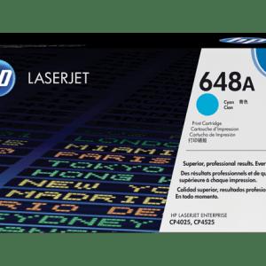 TONER HP CE261A, 648A CYAN, Color: Cian, Compatibilidad: HP LASERJET CP4025/CP4525/CP4525DN, Rendimiento: 11000 páginas.