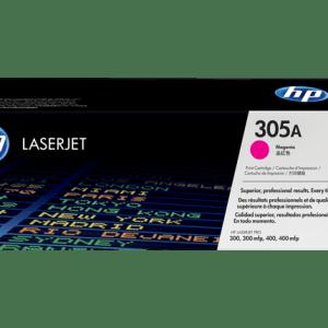 TONER HP CE413A , Color: Magenta, Compatibilidad. HP LASERJET PRO 300/400, Rendimiento: 2600 páginas.