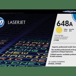 Toner HP 648A Yellow, Color: Amarillo, Compatibilidad: HP LASERJET CP4025/CP4525/CP4525DN, Rendimiento: 11000 páginas.