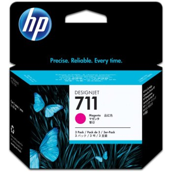 Tinta Plotter Hp magenta 711 CZ131A para T120/T520 29ML , Cartucho para Plotter Hp 711 color Magenta CZ131a 29 ml , tinta para plotter hp 711 magenta