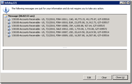 Getting Ledger transactions in Ax 2012 (1/2)