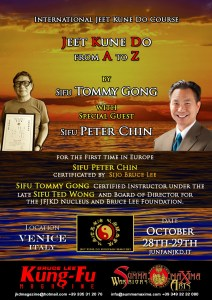 Sifu Peter Chin e Sifu Tommy Gong Jun Fan JKD WNG - flyer