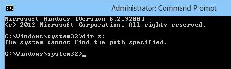 The system cannot find the path specified.