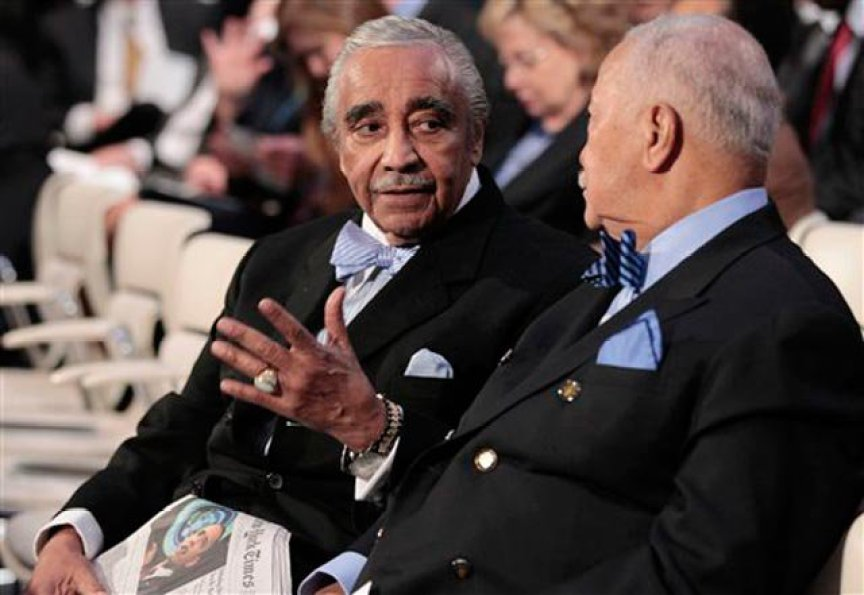 Rep. Charles Rangel and former Mayor David Dinkins