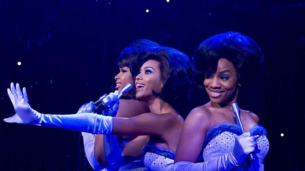 Beyoncé Knowles, Anika Noni Rose, and Jennifer Hudson in the film version of <i data-recalc-dims=